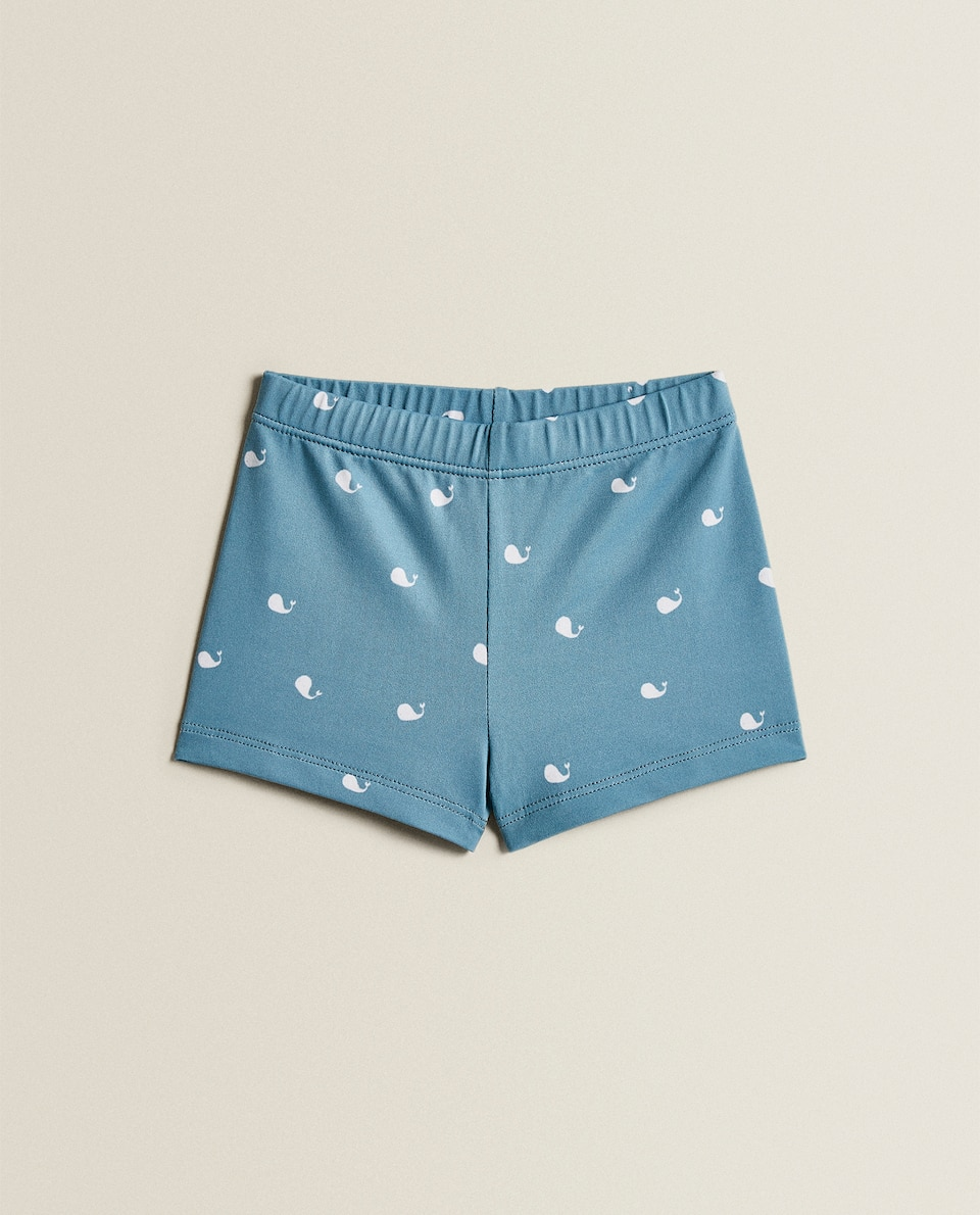 WHALE PRINT SWIMMING TRUNKS