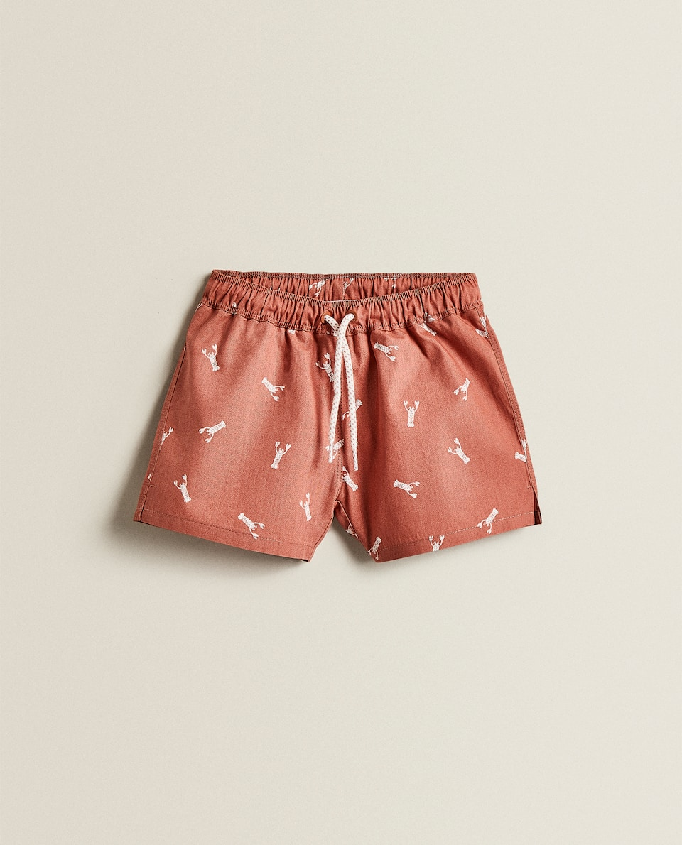 LOBSTER PRINT SWIMMING TRUNKS