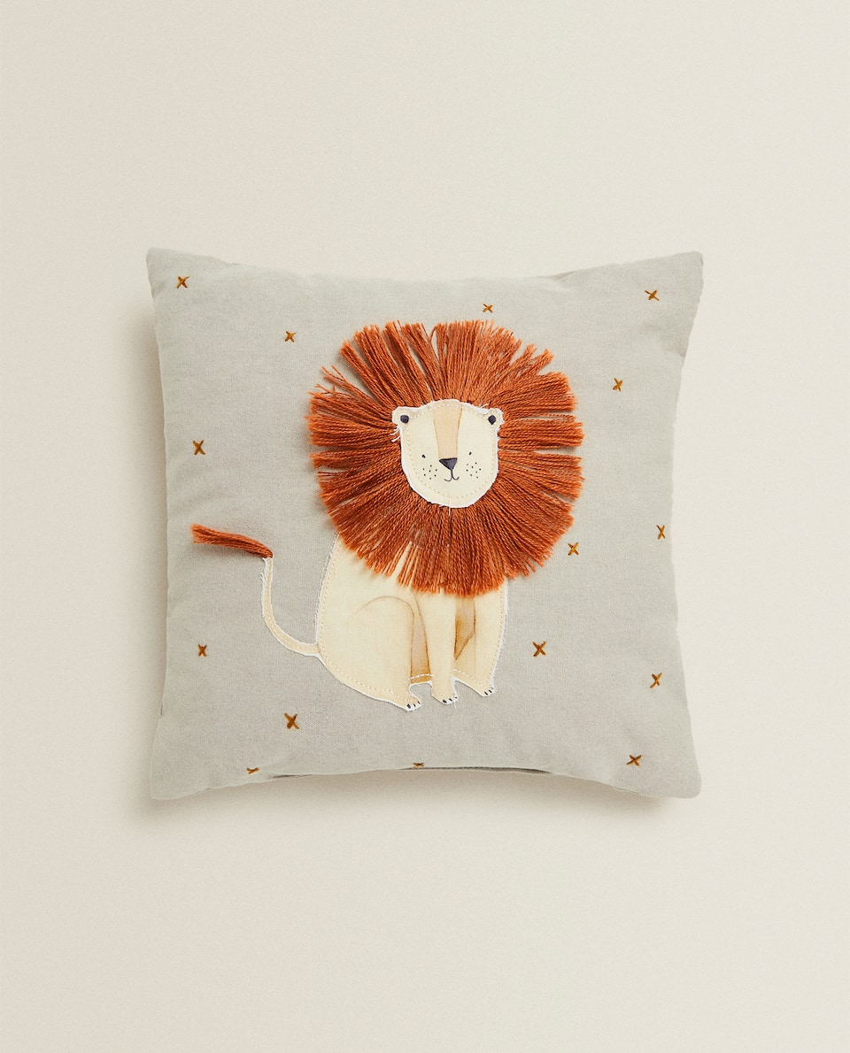 LION APPLIQUÉ CUSHION