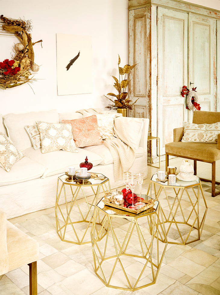 white gold christmas zara home portugal